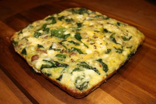 sausage leek spinach egg bake
