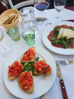 greve meal bruschetta carpacio