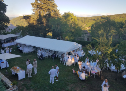 tuscany vineyard white wedding