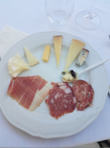 tuscany wedding cheese and meat plate