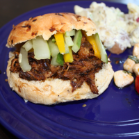 Asian Style Pulled Pork with Quick Pickles