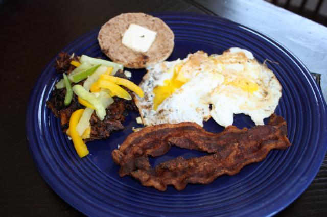 pulled pork leftovers for breakfast