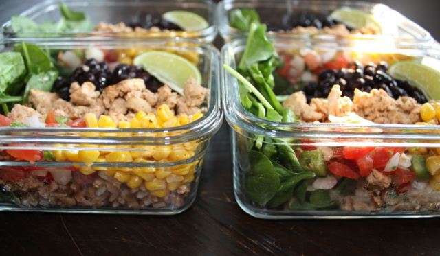 chipotle chicken burrito bowls farro meal prep_4