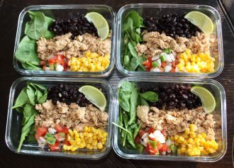 chipotle chicken burrito bowls meal prep_2