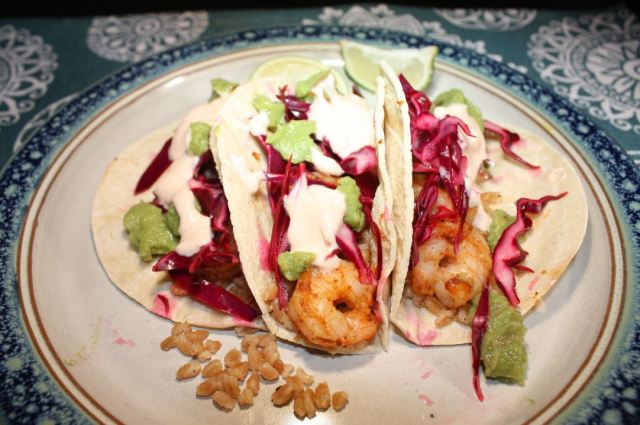 shrimp tacos w farro red onion chipotle lime mayo_2