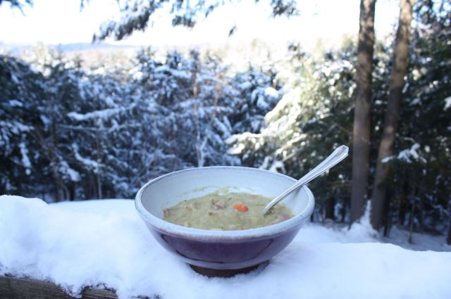 homemade split pea soup cozy