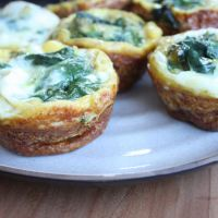 Sweet Potato, Spinach, Sausage, and Shallot Egg Muffins