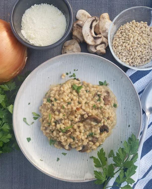 mushroom barley risotto instant pot 2