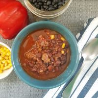Black Bean, Corn, and Turkey Chili [Instant Pot]