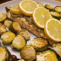 Rosemary Garlic Salmon and Brussels Sprouts