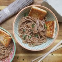 Cold Sesame Soba Noodles and Tofu