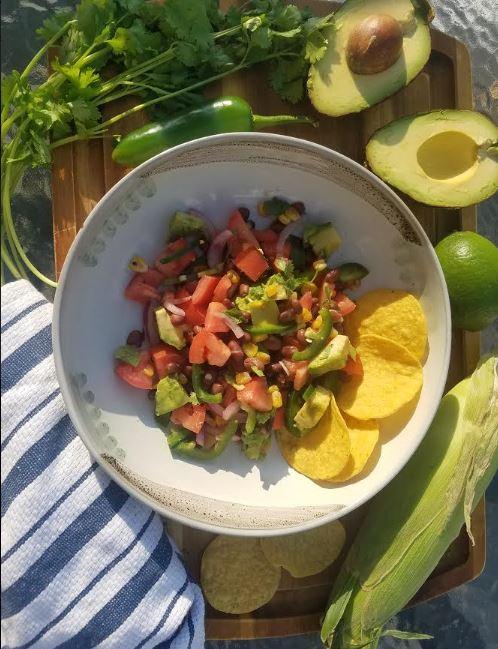 summer salsa black bean avocado jalapeno corn cilantro 3.JPG