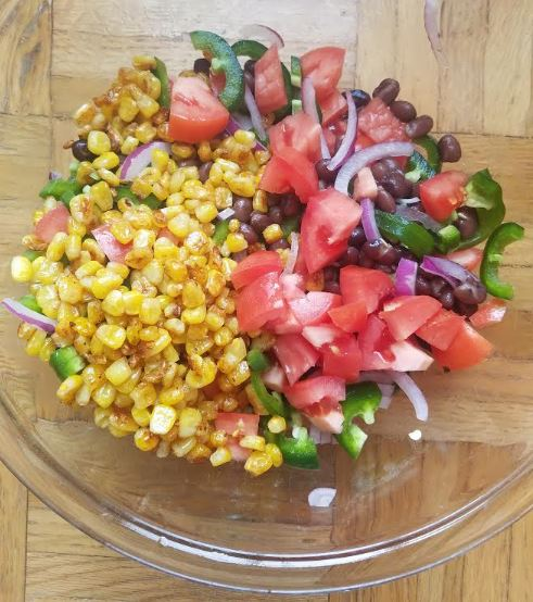 summer salsa black bean avocado jalapeno corn cilantro 4.JPG