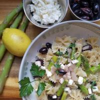 Farfalle with Asparagus, Olives, and Feta