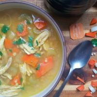 Chicken Couscous Soup with Turmeric
