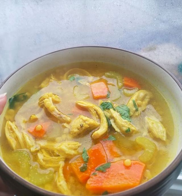homemade chicken noodle soup cous cous tumeric ginger_2.JPG