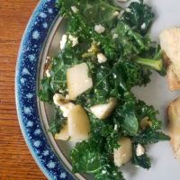 Kale Salad with Pear and Feta