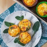 Salsa and Spinach Egg Muffins