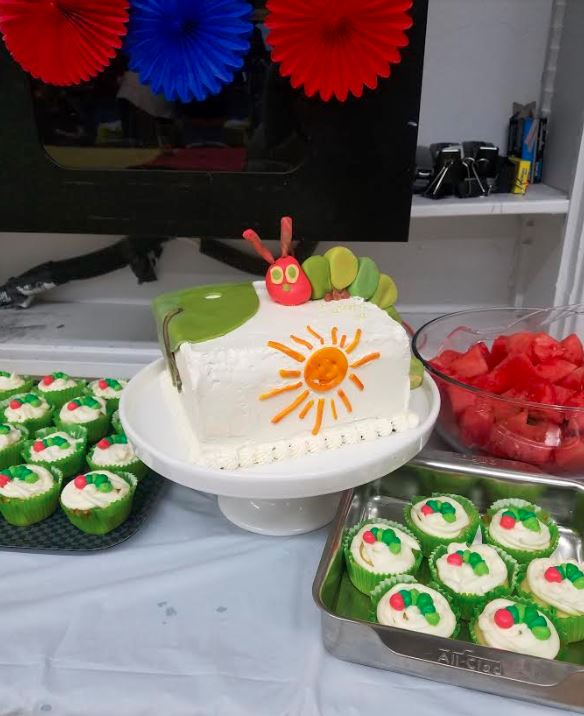 hungry caterpillar baby shower cake.JPG