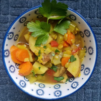 Turmeric Lentil and Veggie Soup