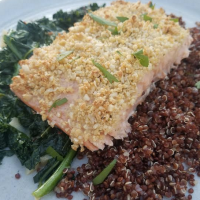 Parmesan Cashew Crusted Salmon